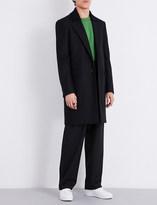 Maison Margiela Knitted collar wool coat