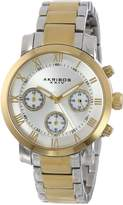 Akribos XXIV Women's AK623TT Grandiose Chronograph Two-Tone Stainless Steel Bracelet Watch