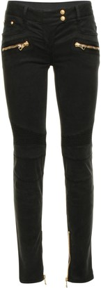 Balmain Panelled Skinny Jeans