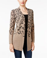 Charter Club Cashmere Animal-Print Cardigan, Only at Macy's