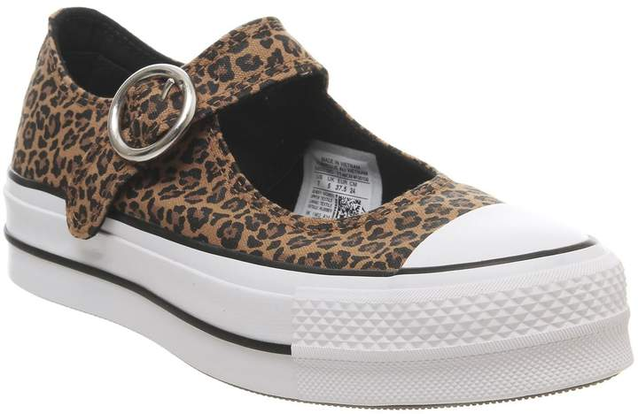 c793c6017b23f Mary Jane Ox Trainers Leopard White Exclusive