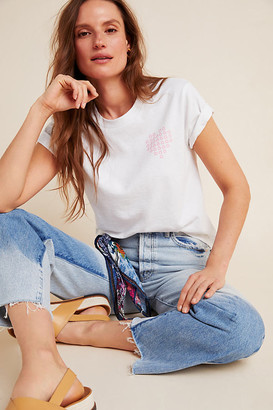Upcycle x Anthropologie Love Earth Graphic Tee By Upcycle in White Size XS