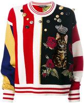 Dolce & Gabbana appliquéd jumper - women - Nylon/Polyester/Viscose/glass - 40