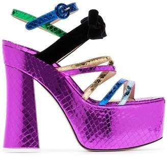 ATTICO The Multicoloured Bibbi Greta platform heels