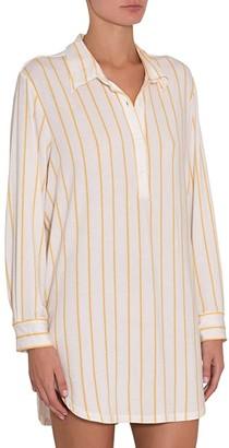 Eberjey Summer Stripes Boyfriend Sleepshirt (Multi/Ochre) Women's Pajama