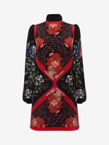 Alexander McQueen Mini Dress with Scarf Detail