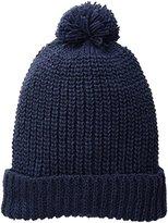 San Diego Hat Company Women's Solid Knit Beanie with Cuff and Pom Pom