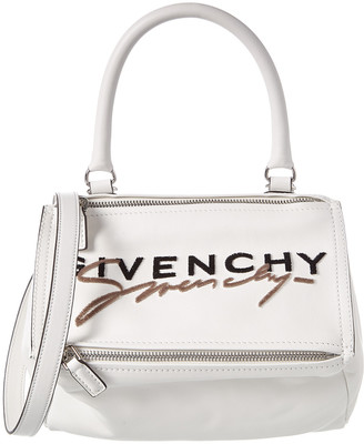 Givenchy Pandora Small Embroidered Leather Messenger Bag