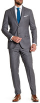 Michael Bastian Gray Woven Two Button Notch Lapel Wool Extra-Trim Fit Suit