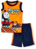 Children's Apparel Network Thomas & Friends Orange Tank & Shorts - Toddler
