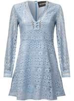 Anastasia Beverly Hills Blue Boho Lace Lined Summer Short Dress blue