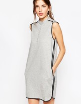 See by Chloe Jersey Dress with Gray Contrast Piping