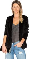 Anine Bing Velvet Blazer in Black