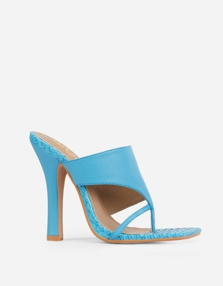 Ego x Molly-Mae Captivating heeled mules in blue