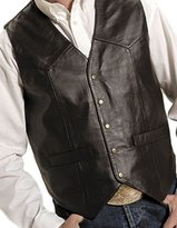 Roper Western Vest Mens Leather Vest Snap L Brown 02-075-0520-0501 BR