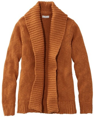 L.L. Bean Women's Signature Cotton Slub Sweater, Long Cardigan