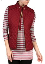Trends SNJ Women's Lightweight Quilted Padding Zip Up Jacket Vest