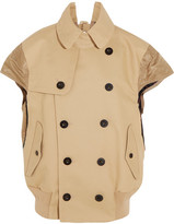 Sacai Shell-paneled Cotton Jacket - Beige