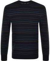 Paul Smith Crew Neck Striped Jumper Navy