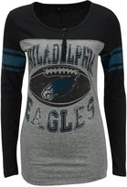 5th & Ocean Women's Philadelphia Eagles Henley T-Shirt