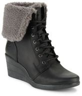 UGG Zea Lace-Up Wedge Boots