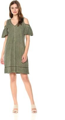 Democracy Women's Cold Shoulder Vneck Dress