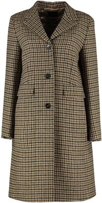 Weekend Max Mara Davy Single Breasted Houndstooth Coat