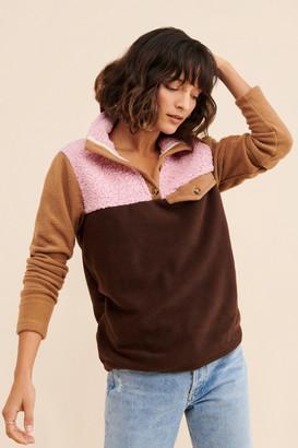 DONNI Colorblock Fleece Pullover
