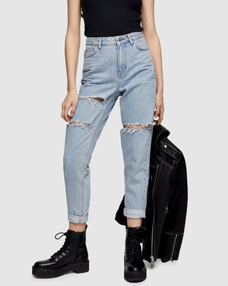 Topshop High-Rise Ripped Jeans