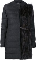 Fabiana Filippi padded hooded coat - women - Spandex/Elastane/Cashmere/Virgin Wool - 38