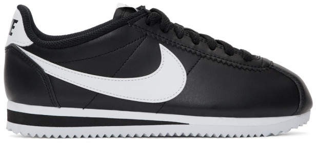 get cheap e1ba9 194ac Black and White Classic Cortez Sneakers