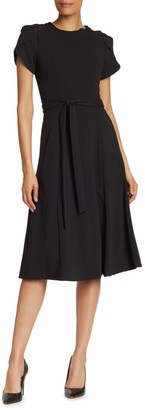 Calvin Klein Tulip Sleeve Fit & Flare Dress