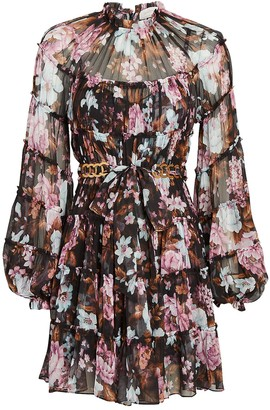 Zimmermann Charm Tiered Floral Mini Dress