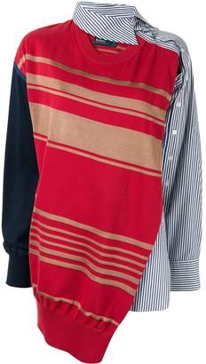 Kolor Asymmetrical Deconstructed Shirt
