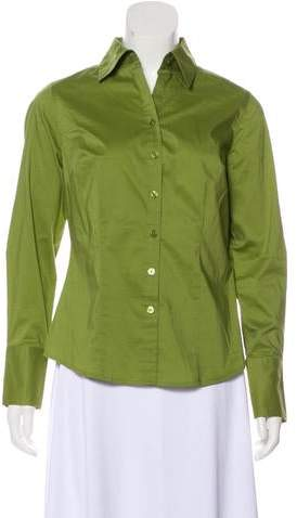 Ann Taylor Structured Button-Up Top
