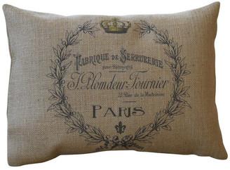 """Polkadot Apple Pillows Paris Wreath Burlap Pillow, 12""""x16"""""""