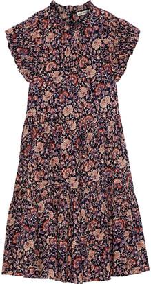 Ulla Johnson Hana Gathered Floral-print Cotton-blend Voile Dress