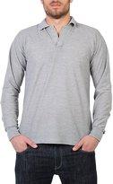 KRISP Long Sleeve Polo Shirt (7949-GRY-XXL)