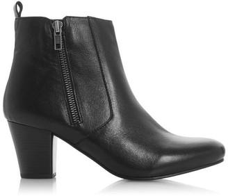 Roberto Vianni Pawel Mid Block Heel Side Zip Ankle Boots