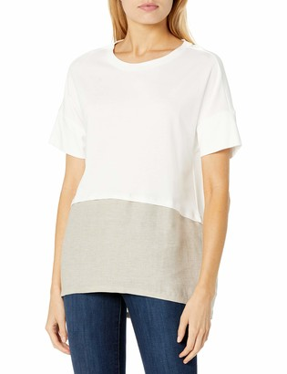 b new york Women's Short Sleeve Split Back Tee
