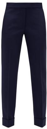 Stella McCartney High-rise Wool-blend Trousers - Womens - Navy