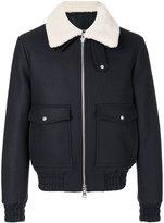 Ami Alexandre Mattiussi zipped jacket - men - Cotton/Sheep Skin/Shearling/Polyamide/Wool - M
