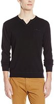 Fresh Men's V-Neck Sweater with Elbow Patch