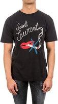 Saint Laurent Men's 482676Yb1hu1004 Cotton T-Shirt