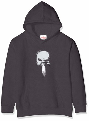 Marvel Girl's Knights Paintspray Skull Hoodie