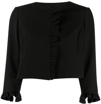 Liu Jo Cropped Ruffle Trim Jacket