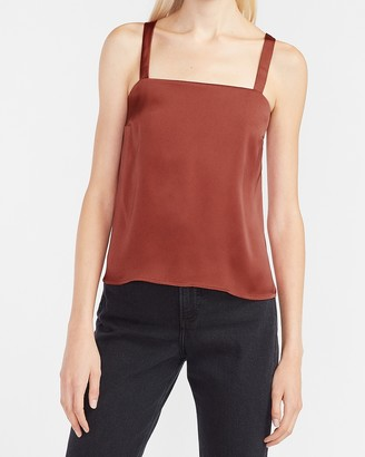 Express Satin Square Neck Tank