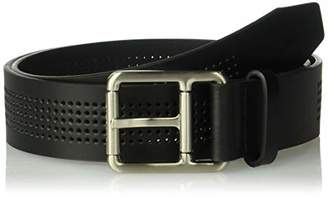 Lacoste Men's Perforated Leather Belt W/Roller Buckle