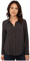 Chaser Open Back Button Down Silk Shirt