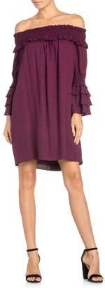 Miss Me Purple Off-Shoulder Dress